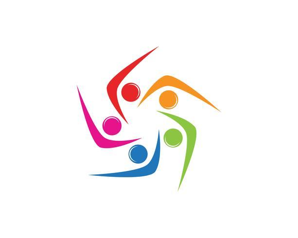 modelo de símbolos de pessoas de logotipo de comunidade de cebola