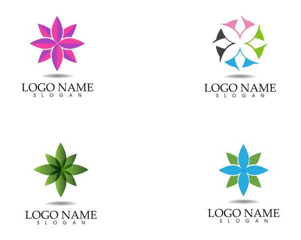 Blumen-Zeichen für Wellness, Spa und Yoga. Vektor-Illustration