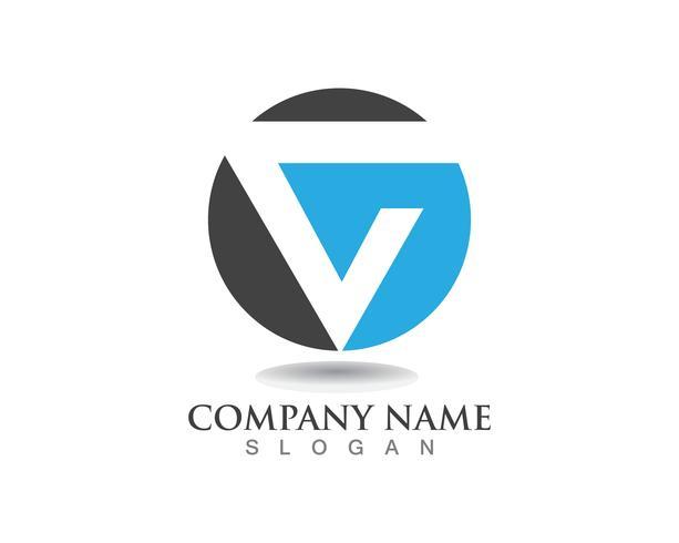 V-logotypen affärslogotyp och symbolmall