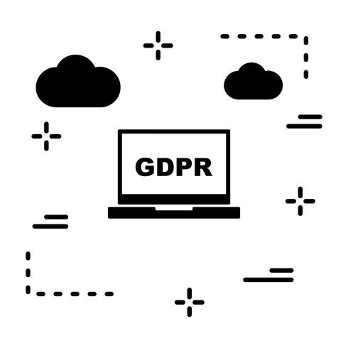 Vektor GDPR-ikon