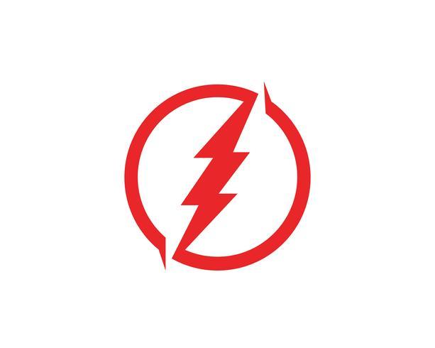 Projeto rápido da ilustração do ícone do vetor do molde do logotipo do RELÂMPAGO,