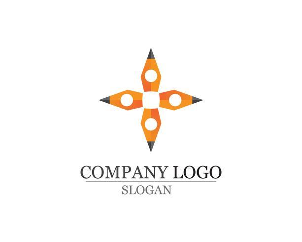 pluma escribir signo logo plantilla aplicación iconos vector