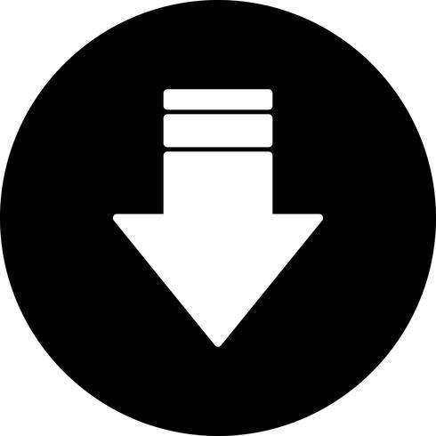 Vector icono de flecha hacia abajo 615397 Vector en Vecteezy