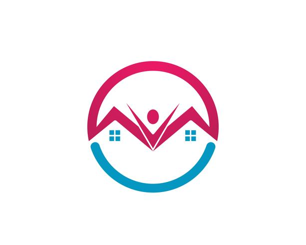 Home logo e simboli vettoriali
