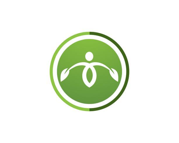 Zeichen des menschlichen Charakters, Gesundheitspflegelogo. Natur-Logo Zeichen. Green Life Logo Zeichen