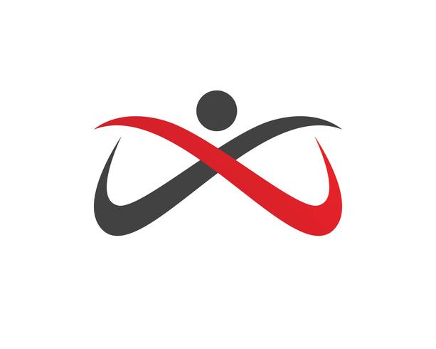 Menselijk karakter logo teken, gezondheidszorg logo. Natuur logo teken. Groen leven logo teken