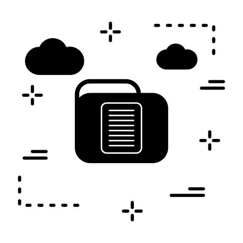 Vektor Dokumentmapp Ikon