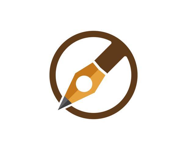 caneta escrever sinal logotipo modelo app ícones