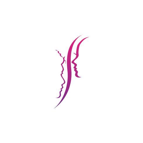 elemento de icono de ilustración de vector de moda pelo creativo logotipo plantilla