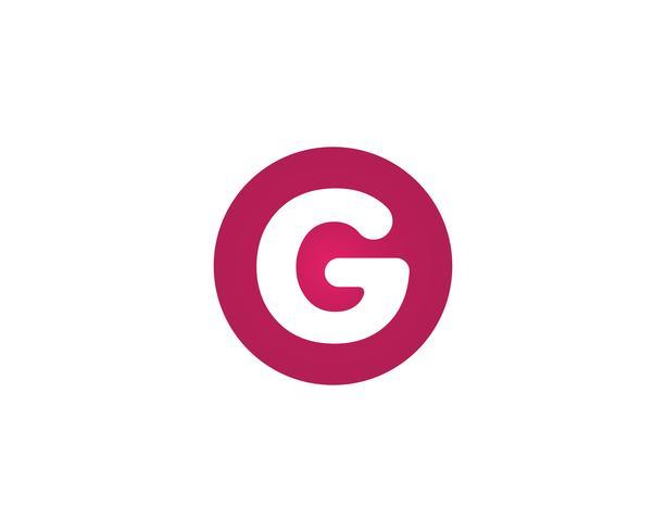 G bokstäver logotyper och symboler mall ikoner
