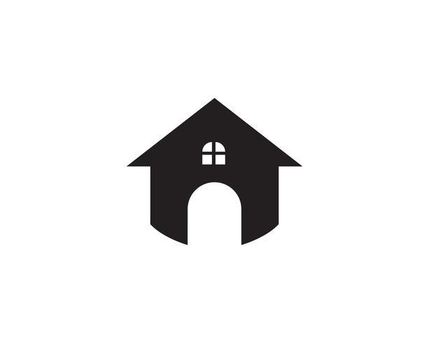 Eigentum und Bau Logo-Design für Geschäftsunternehmenszeichen.