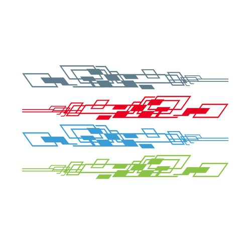 Voiture vélo véhicule graphique, vinyls decals vector illustration