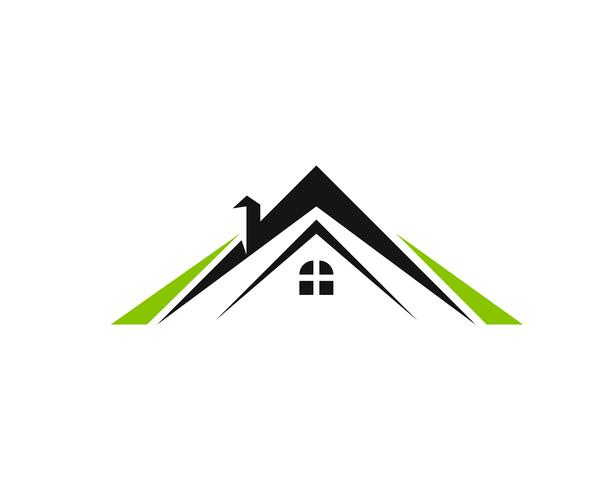 Design de logotipo de propriedade e construção para sinal corporativo de negócios