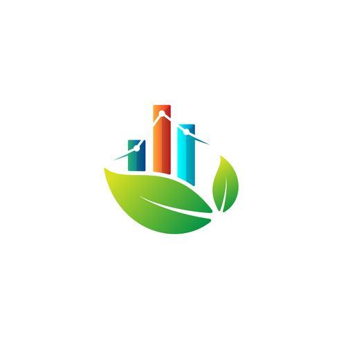 Grafiksymbol-Ikonenvektor der Naturdiagrammlogodesigninfo