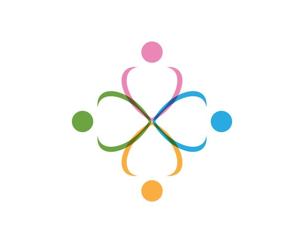 Människokaraktärslogotyp, Hälsovårdslogo. Natur logotyp tecken. Grön livslogotypskylt,