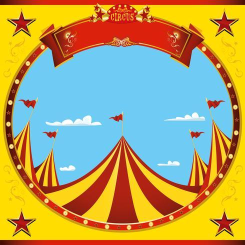 Square sticker nice day circus