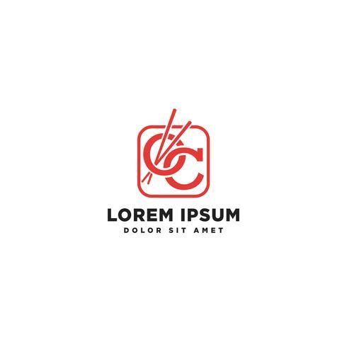 letter OC restaurant logo template vector illustration icon element isolated