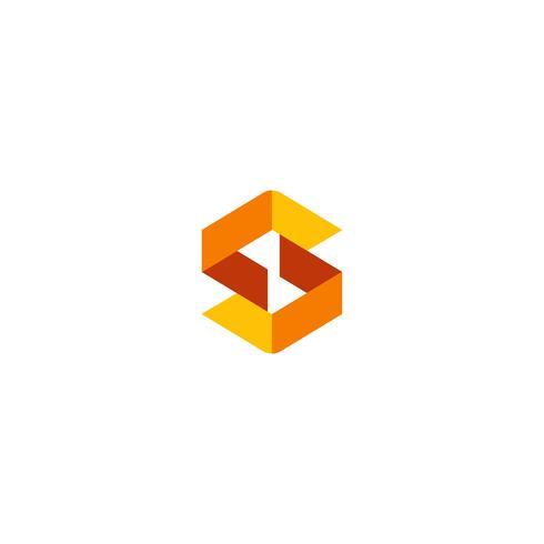 letter S eerste logo sjabloon vectorillustratie, tekenen, pictogram elementen