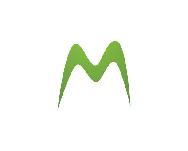 M carta Logo Business Template Vector icono,
