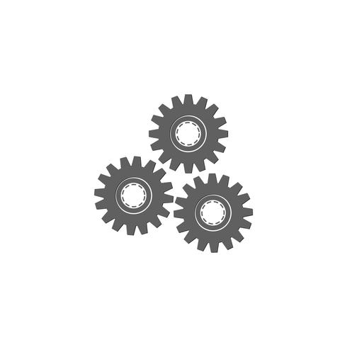 gear logo design industrial icon elemento ilustração vetor