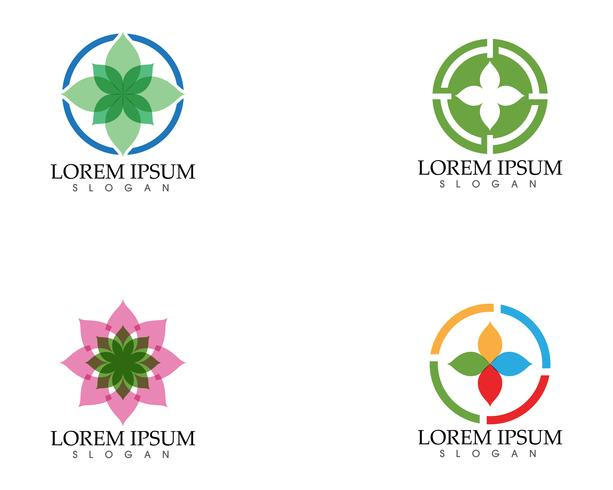 Logotipo de símbolo de ícone simples de folha verde ecologia