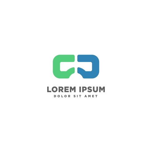 Virtual Reality, VR, vision logo template vector illustration