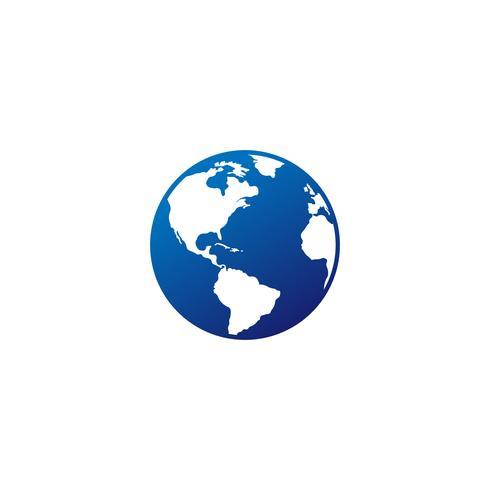 logo del mundo vector icono descargar editable
