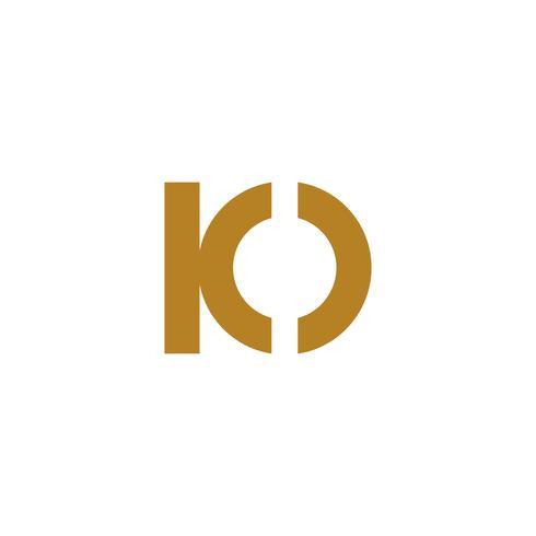 elemento dell'icona dell'illustrazione di vettore del modello di logo della lettera di io isolato