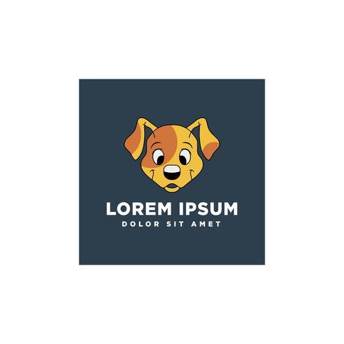Hundegesichtsabdruckvektorschablonen-Illustrationsgrafikdesign