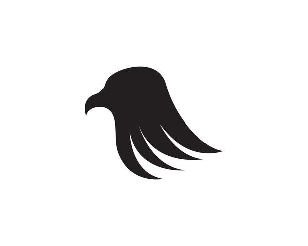 Iconos de plantilla de logotipo y símbolos de cabeza de águila