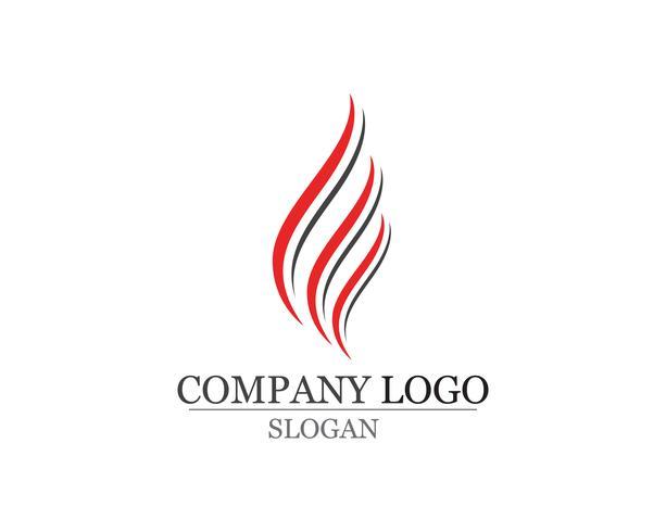 Icônes de logo et symboles nature feu flamme