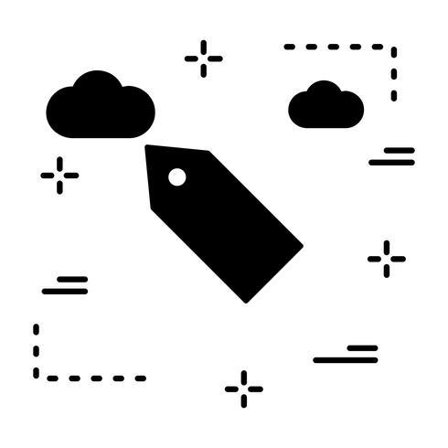 Icona tag vettoriale
