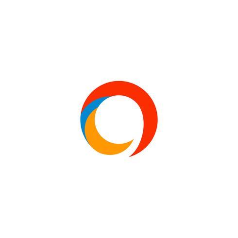 Logo Buchstabe O abstrakte Logo Vorlage Vektor Illustration Symbol Element