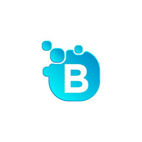 Letter B Bubble logo template or icon vector illustration