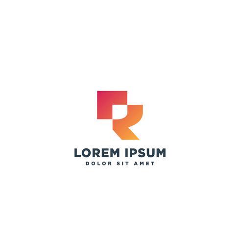 logotipo tipo letra R lujo logotipo plantilla vector ilustración monograma icono elemento