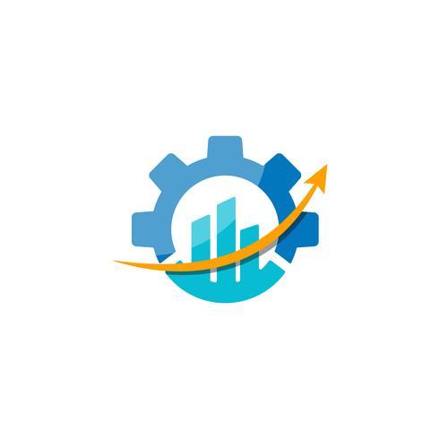 Ilustración de elemento de icono de engranajes diseño de logotipo icono industrial