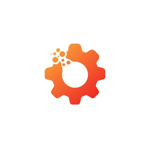 gear logo design industrial icon element illustration