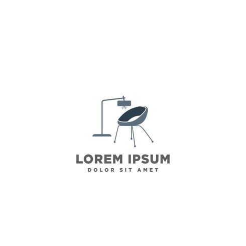 sofá cadeira logo mobília design vector ilustração ícone elemento