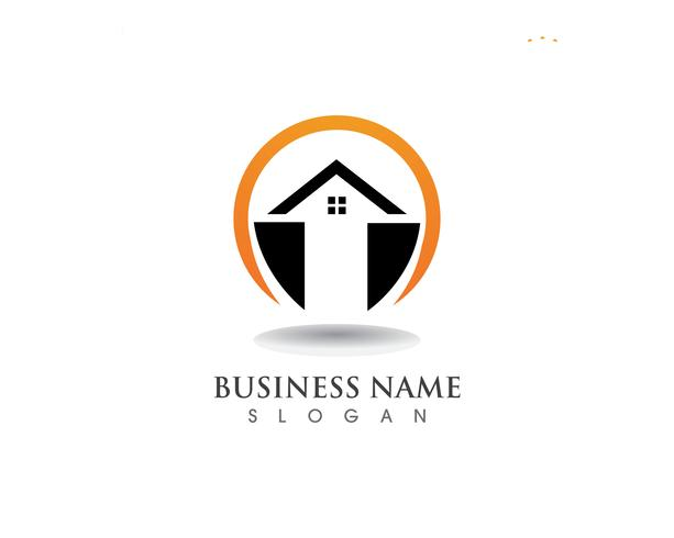 Casa logo e símbolos vector ícone