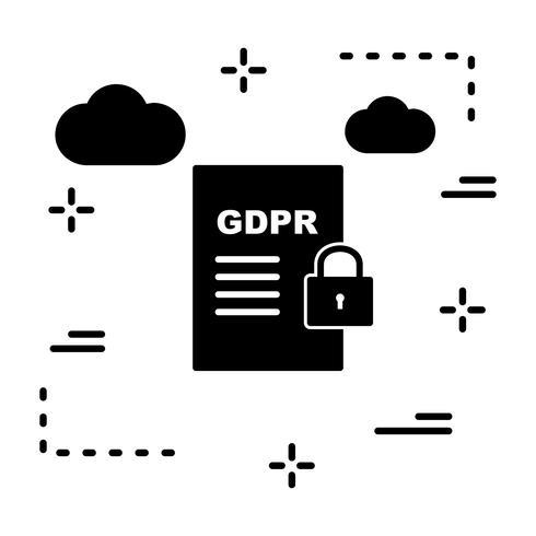 Vektor GDPR Säkerhetsdokument Ikon