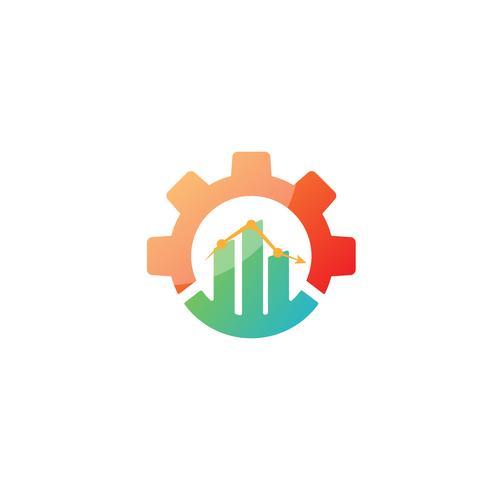 versnelling grafiek logo ontwerp industriële pictogram element illustratie