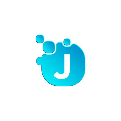 Letter j Bubble logo template or icon vector illustration