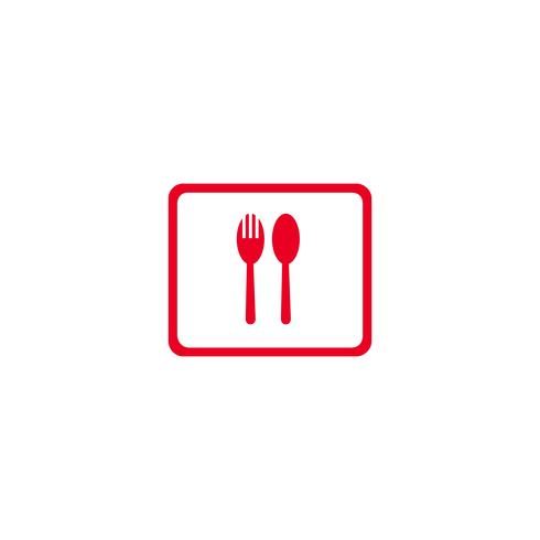 nourriture et boisson icône logo design illustration vectorielle