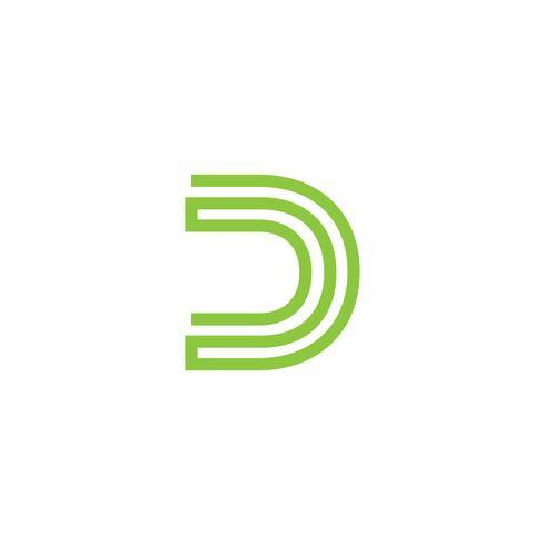 letra D logotipo criativo modelo vector illustrator