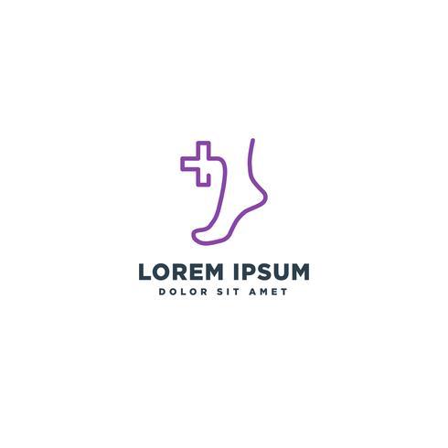 pied médical icône logo modèle vector illustration