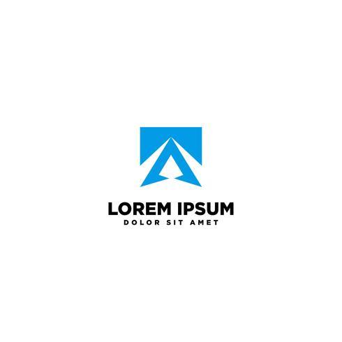 Ilustración de vector de plantilla de logotipo abstracto letra A