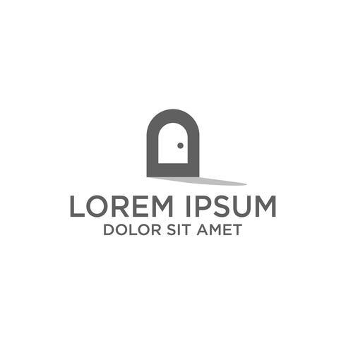 création de logo créatif minimal pour l'icône de porte, logo illustration vectorielle modèle et logo d'inspiration vecteur