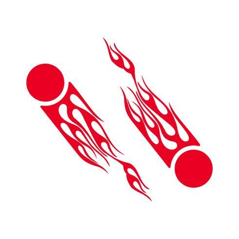 Flammenfeuer-Vektorillustration für Dekorationsdesign