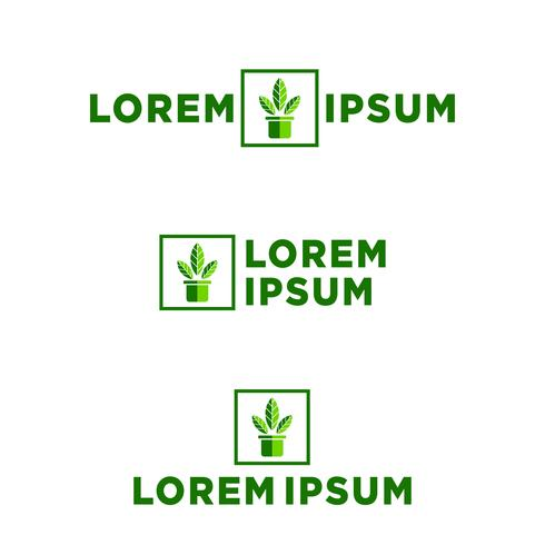 Hoja, ilustración de vector de plantilla de logotipo eco, elementos de icono