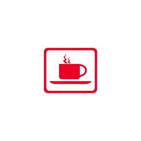 Ilustración de vector de diseño de logotipo de icono de comida y bebida